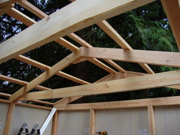 Home for Prefabricated wood trusses